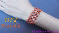 How to make a beautiful seed beaded bracelet Seed Bead Necklace, Seed Bead Bracelets, Seed Beads, Diy Beaded Rings, Beaded Bracelets Tutorial, Beaded Jewelry Designs, Bead Jewellery, Bracelet Making, Jewelry Making