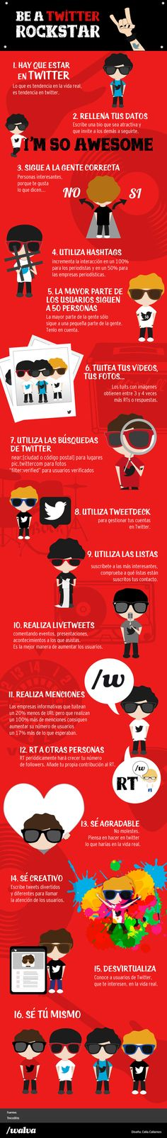 Infografía: Cómo ser una estrella en Twitter What Is Twitter, Twitter Help, About Twitter, Social Media Topics, Social Networks, Social Media Marketing, Online Marketing, Digital Marketing, Comunity Manager