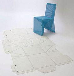 一枚の板で出来る超洗練された折り紙のような椅子2