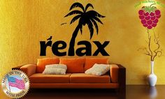 Wall Stickers Vinyl Decal Palm Tree Beach Tropical Plants Relax Home Decor ig800 by Easy Vinyl, http://www.amazon.com/dp/B00DM5890I/ref=cm_sw_r_pi_dp_.BzYrb1QANYNR