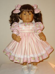 Dress and Bows for 21 to 25 inch Lee Middleton by SewbeitsDollWear