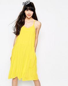 Enlarge The WhitePepper Waisted Cami Swing Dress