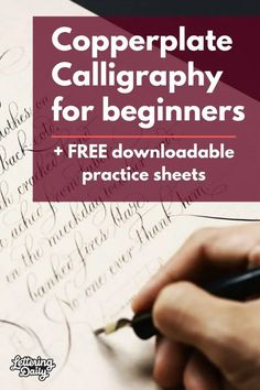 Copperplate Calligraphy for beginners - Lettering Daily This is a beginners guide to Copperplate calligraphy. Learn the fundamentals and start practicing with the FREE copperplate calligraphy practice sheets. Caligraphy Alphabet, Handwriting Alphabet, Hand Lettering Alphabet, Graffiti Alphabet, How To Caligraphy, Calligraphy Practice Sheets Free, Alphabet Art, Copperplate Calligraphy, Calligraphy Handwriting