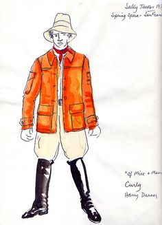 Of Mice and Men (Curly). San Francisco Opera. Costume design by Sally Jacobs. 1974