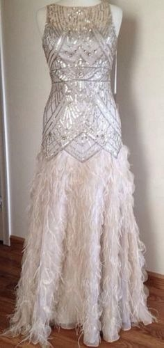 Sue wong blush pink art deco beaded embellished bridal for Roaring 20s wedding dress