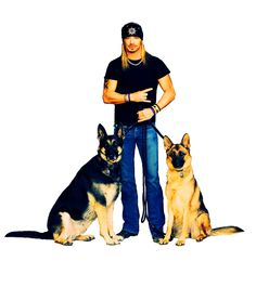 SITE GRAPHIC: Bret with Dogs (Transparent)