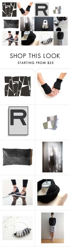 """""""Etsy black & white finds!"""" by dikua ❤ liked on Polyvore"""