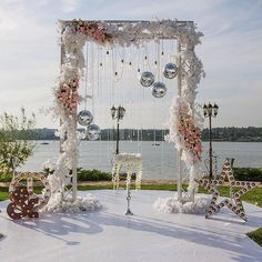 Have you always dreamed of having a romantic wedding but you don't want to have the decorations that every other bride Wedding Ceremony Arch, Wedding Altars, Wedding Mandap, Wedding Stage, Wedding Show, Dream Wedding, Romantic Wedding Decor, Outdoor Wedding Decorations, Ceremony Decorations