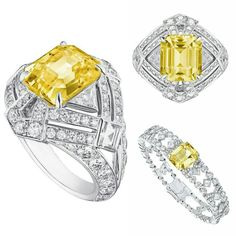 The new Conquétes Regalia collection by Louis Vuitton Affordable Diamond Rings, Unique Diamond Rings, Round Diamond Engagement Rings, Yellow Jewelry, Lotus Jewelry, Bridal Ring Sets, High Jewelry, White Gold Rings, Jewelry Collection