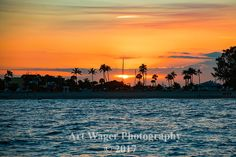 Fort Lauderdale Sunset Fine Art Photograph by ArtWagerPhotos on Etsy