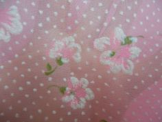 Close-up view of wonderful pink sheer flocked fabric. Stuff and Nonsense