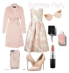 """Summer Party"" by kati-fagerstrom on Polyvore featuring Miss Selfridge, Rochas, Massimo Matteo, Linda Farrow, Chanel and MAC Cosmetics"