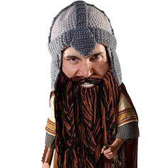 9048e744191 Beard Head Dwarf Warrior Beard Beanie - Epic Knit Dwarf Helmet w Fake Beard  Warrior
