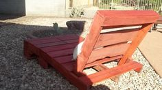 Recycled pallet chaise lounge red barn wash by buckeyerestoration, $150.00
