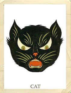 Freebie: Martha Stewart Halloween Owl and Cat Masks by MyOwlBarn, via Flickr