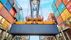Cadena logística simulando proceso de exportación e importación