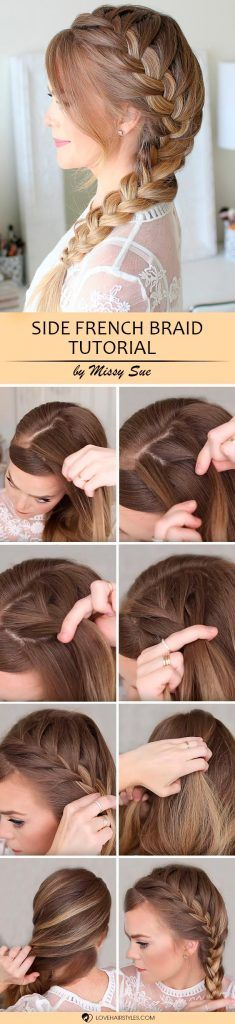 Would you like to learn how to French braid? Then you have definitely come to the right place. We have some simple tutorials that will help you master this type of braid even if you are an amateur at braiding. Just a little practice and some patience, and you will succeed! Side French Braid #hairstyles #braidedhairstyles #frenchbraid