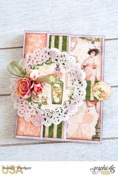 Romantic Cards  Portrait of a Lady  by Sandy Trefger  Product by Graphic 45  Photo 001