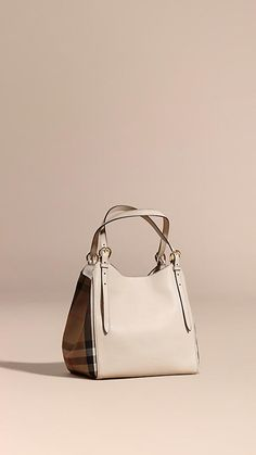 Limestone The Small Canter in Leather and House Check - Image 1 Hobo Bag ab4b75f66c9ba