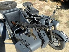 WWII Era German BMW Motorcycle and Sidecar