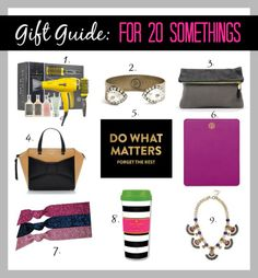 10 Holiday Gift Ideas for 20 Somethings!