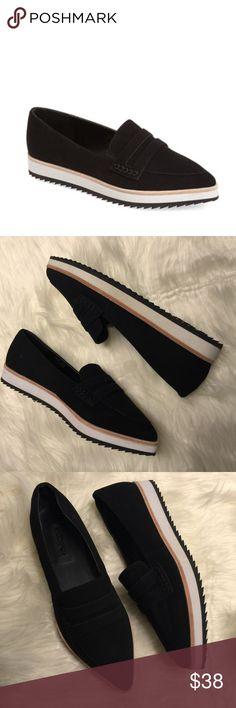 Topshop Krest Faltform Pointed Flat Loafer Topshop Loafer   Creeper style  trendy flatform shoe Shoes 58fa01b53