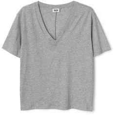 Last V-neck T-Shirt ❤ liked on Polyvore featuring tops, t-shirts, v neck t shirts, organic cotton t shirts, short sleeve tee, basic tee shirts and short sleeve t shirts