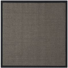 Safavieh Natural Fiber Charcoal and Charcoal Square Indoor Machine-Made Coastal Area Rug (Common: 8 x 8; Actual: 8-ft W x 8-ft L)