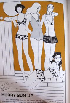 Everything About Sewing Swimwear From Vogue Patterns - 70s Booklet