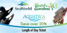 Save Over 20% on a SeaWorld, Aquatica, and Busch Gardens Length of Stay Pass!
