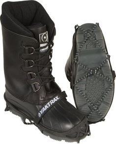 YAKTRAX PRO FOOT TRACTION LRG, YAKTRAX Part Number: 11-0086-WPS, Condition: New, Stock photo - actual parts may vary. by YAKTRAX. $37.95. New traction device for all footwear Helps eliminate slipping and sliding on sliding on snowy, icy surfaces and allows you to walk or run as you would if on dry terrain Made with high strength, abrasion resistant 1.4mm steel coils and heavy-duty natural rubber material Easily conforms to the shape of boots or shoes and stays ...