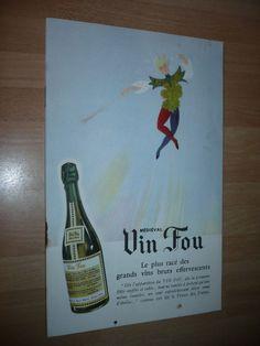 PLAQUETTE PUBLICITAIRE VIN FOU HENRI MAIRE 1960