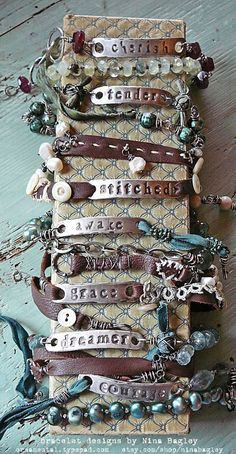 What is there not to love about Nina Bagley's work. She was producing these cool bracelets back in 2009!