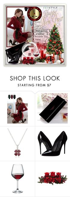"""""""Happy New Year"""" by tanja133 ❤ liked on Polyvore featuring LOVEMARSH, Pennyshine, Best Jewellery, Dolce&Gabbana, Bormioli Rocco, Nearly Natural, Christmas, winterfashion and yesstyle"""