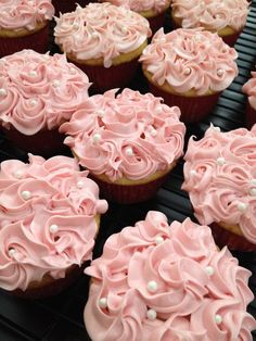 Best Engagement Party Cupcakes Ideas Bridal For Your Home Rosette Cupcakes, Wedding Cupcakes, Cupcake Cookies, Sweet 16 Cupcakes, Pretty Cupcakes, Beautiful Cupcakes, Baby Shower Cupcakes, Shower Cakes, Cupcake Heaven