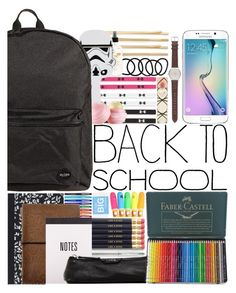 """""""Back to School Supplies"""" by alex-fox1 ❤ liked on Polyvore featuring Cara, Wet Seal, Under Armour, Paper Mate, Eos, Jagger, Cross, Dot & Bo, Lodis and Faber-Castell"""