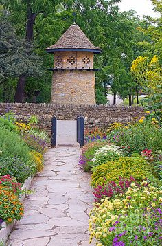 Dovecote in the garden of the Cotswold Cottage at Greenfield Village in Dearborn, MI, Photo by Steve Sturgill