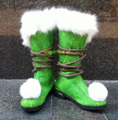 PTK10 Tinkerbell Boots Furry Shoes for Travelling Costume Shoes Tailor Made | eBay