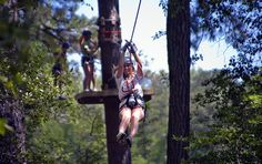 Enjoy a treetop adventure at @Callaway Gardens in Pine Mountain, Georgia!