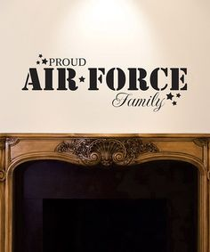 'Air Force Family' Wall Quote