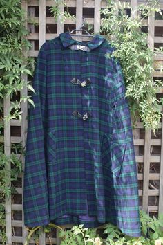 1950's Tartan Cape by moonymiscellaneous on Etsy https://www.etsy.com/listing/222335319/1950s-tartan-cape