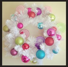 kandeej.com: How to Make this Candy Land Christmas Wreath...