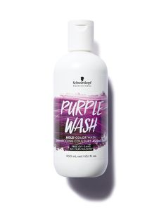 Purple Schwarzkopf Professional Bold Color Wash Purple -värjäävä shampoo 300 ml | 300 ml | Kosmetiikka | Stockmann.com Schwarzkopf Professional, Bold Colors, Washi, Vodka Bottle, Shampoo, Purple, Products, Vibrant Colors, Purple Stuff