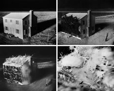 This series taken by an automatic camera in 1953 shows the effects of an atomic bomb on a house built 1 mile from the point of detonation, over a period of seconds. Gene Nelson, Hiroshima Bombing, Pictures Of America, Enola Gay, Bomb Shelter, Nuclear War, Reading Rainbow, Long Shadow, Atomic Age