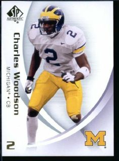 2010 Upper Deck SP Authentic NCAA Football Card # 21 Charles Woodson - Wolverines (Green Bay Packers) NFL Football Trading Card in Protective Screwdown Case! by SP Authentic. $4.95. 2010 Upper Deck SP Authentic NCAA Football Card # 21 Charles Woodson - Wolverines (Green Bay Packers) NFL Football Trading Card in Protective Screwdown Case!