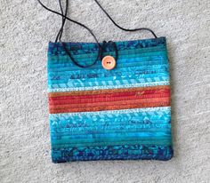Quilted purse. Teal afternoon bag.  8x8 Cross shoulder bag. Handmade purse. by AnnBrauer on Etsy