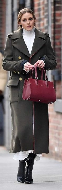 Recreate Olivia's look with this affordable ZARA version of her burgundy bag!