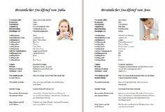 Hochzeitszeitung Steckbrief: Muster