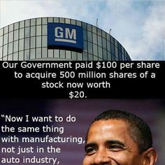 OBAMA BRAGS about how well this is going...HOWEVER....GM still OWES taxpayers 25 BILLION!!!!!!!