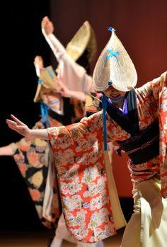 Japanese Awa odori dancers